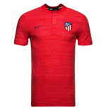 2018-2019 Atletico Madrid Nike Authentisches Grand Slam Poloshirt (Rot)