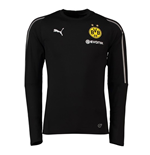 2018-2019 Borussia Dortmund Puma Training Sweat Top (Schwarz) - Kinder
