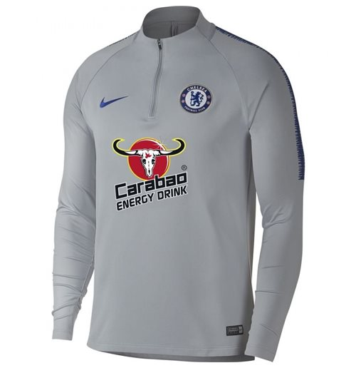 2018-2019 Chelsea Nike Drill Trainingsoberteil (Wolf Grey)