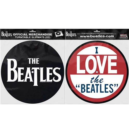 The Beatles Plattenspieler-Pad - Design: Drop T Logo & Love