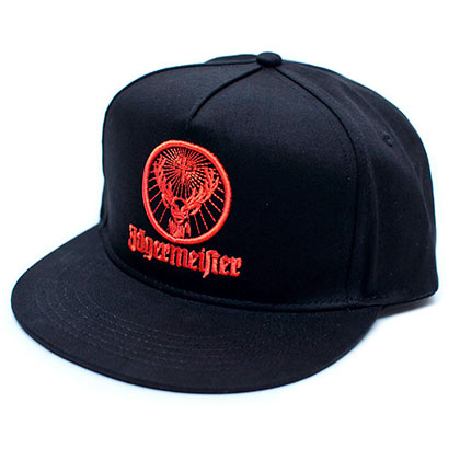Kappe Jagermeister Orange Logo Men's in schwarz