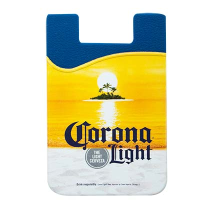 Geldbeutel Corona. Light Cellphone Rubber Sticky Mount Card