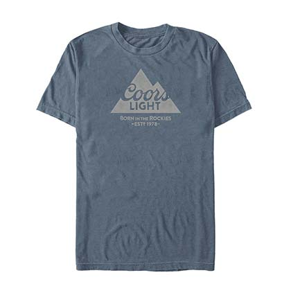 COORS Light Mountain 1978 Herren Blaues T-Shirt