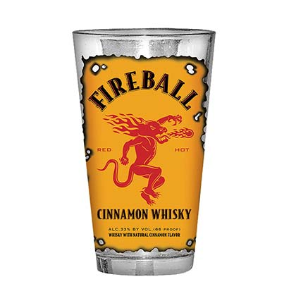 Glas Fireball Cinnamon Whisky