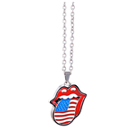 The Rolling Stones Halskette - Design: USA tongue