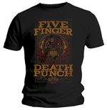 Five Finger Death Punch  T-Shirt für Männer - Design: Wanted