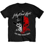 Five Finger Death Punch  T-Shirt für Männer - Design: Jekyll & Hyde