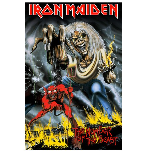 Iron Maiden Poster - Design: Number Of The Beast
