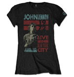 John Lennon T-Shirt für Frauen - Design: Live in NYC