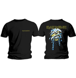 Iron Maiden T-Shirt für Männer - Design: Powerslave Head & Logo