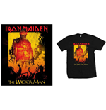 Iron Maiden T-Shirt für Männer - Design: The Wicker Man Fire