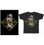 Iron Maiden T-Shirt für Männer - Design: Somewhere in Time Diamond