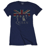 Queen T-Shirt für Frauen - Design: Vintage Union Jack