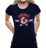 Looney Tunes T-Shirt für Frauen - Design: ANTI-FOOTBALL
