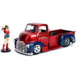 DC Bombshells Diecast Modell Hollywood Rides 1/24 1952 Checy COE mit Wonder Woman Figur