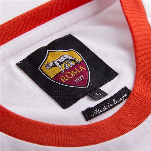 AS Roma Retro-Logo-T-Shirt