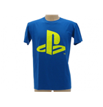 T-Shirt PlayStation Logo in blau