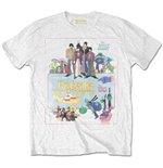 The Beatles T-Shirt für Männer - Design: Yellow Submarine Vintage Movie Poster