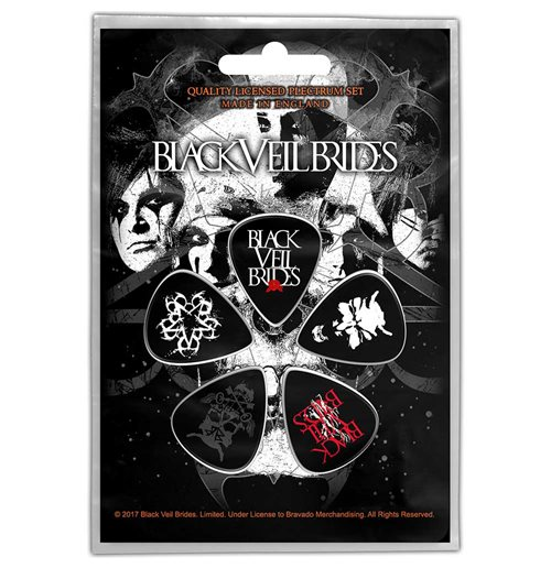 Black Veil Brides Plektrum - Design: Skull