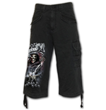 Shorts Spiral Life And Death Cross - Vintage Cargo Shorts 3/4 Lang in Schwarz
