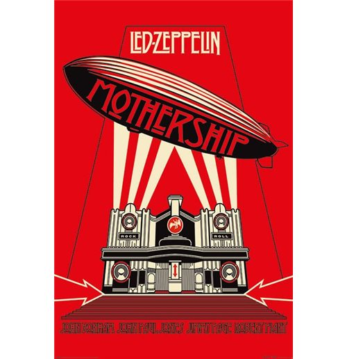 Poster Led Zeppelin  - Mothership Red Maxi Poster