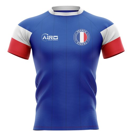 Frankreich Rugby T-Shirt 2019-2020 Home Home Concept Rugby Shirt
