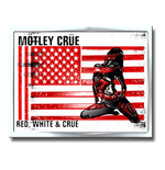 Mötley Crüe  Brosche - Design: Red, White & Crue