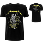 Metallica T-Shirt unisex - Design: And Justice For All Tracks (Back Print)