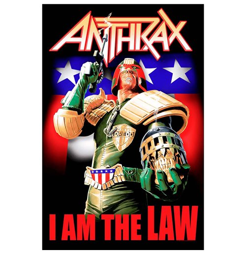 Anthrax Poster - Design: I Am The Law