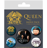Queen Ansteck-Buttons 5er-Pack Classic