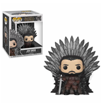Game of Thrones POP! Deluxe Vinyl Figur Jon Snow on Iron Throne 15 cm