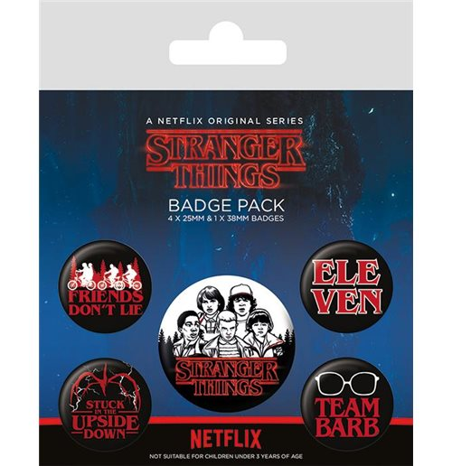 Brosche Stranger Things - Characters Badge Pack Badges
