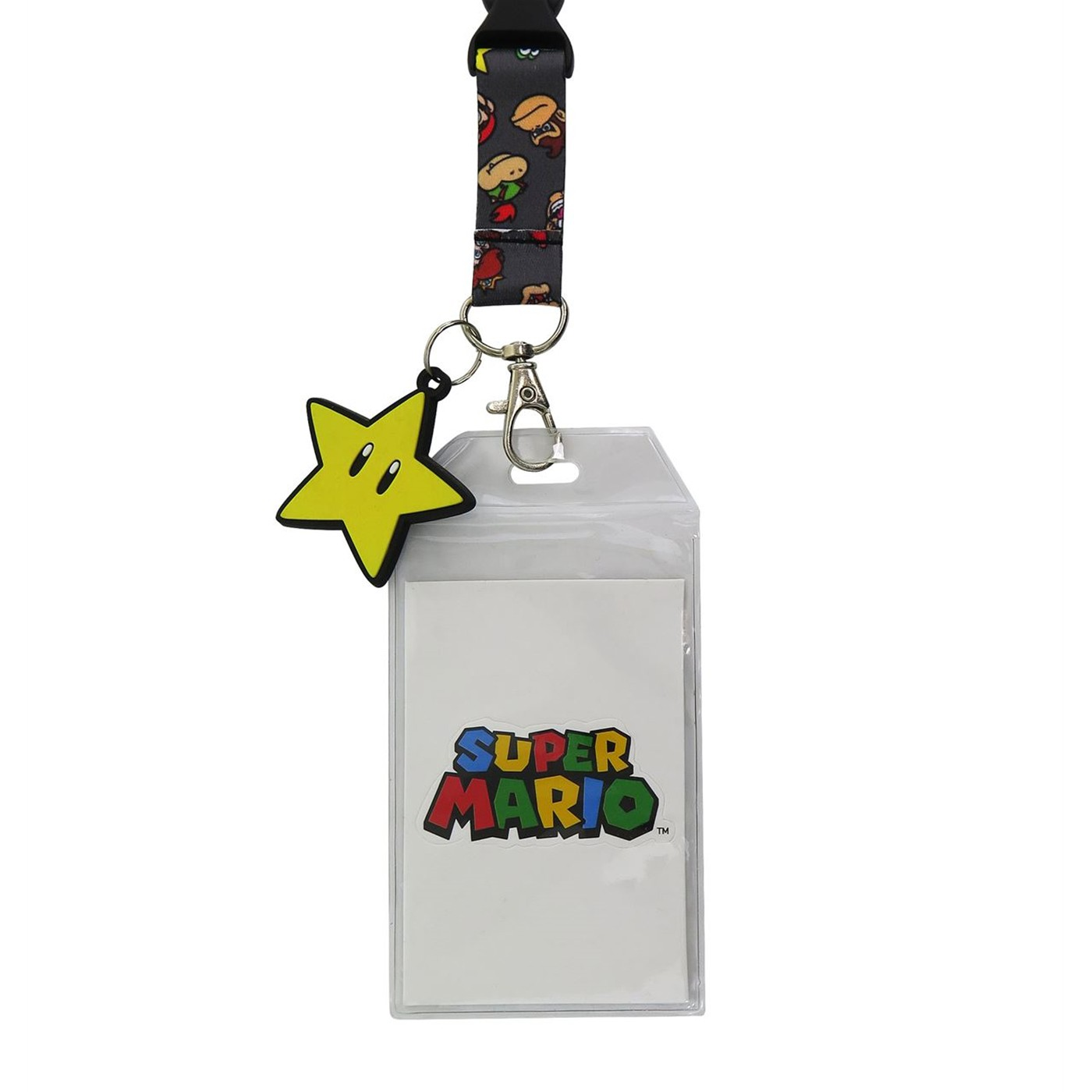 Super Mario Band Power Star Lanyard mit PVC-Anhänger