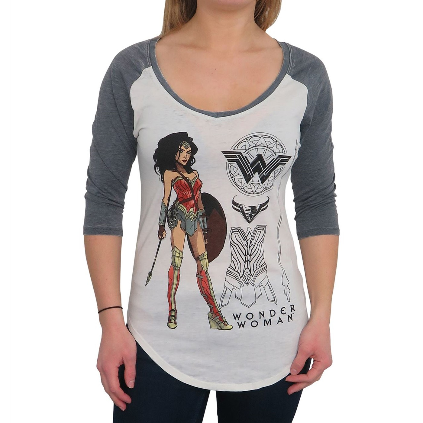Wonder Woman langärmeliges T-Shirt für Frauen