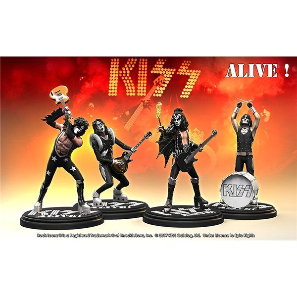 Rock Iconz Kiss Alive Set (4) Statue