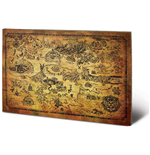 Legend Of Zelda Hyrule Map Wood Print Holzdruck