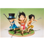 One Piece Zero Luffy Ace Sabo Figur