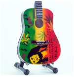 Mini Guitar Bob Marley Tribute One Love