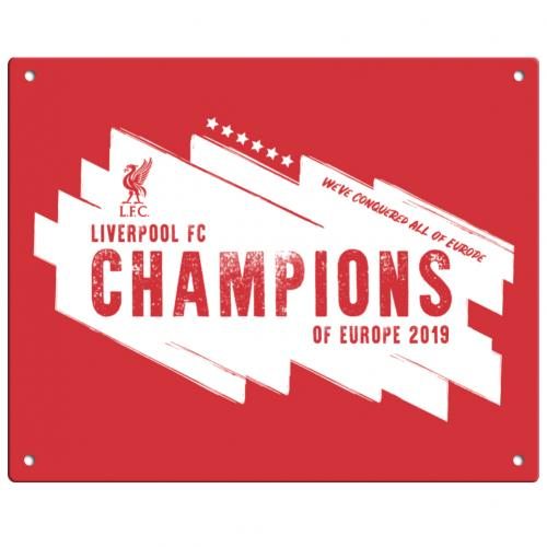 Schilder Liverpool FC Champions Of Europe Metallschild