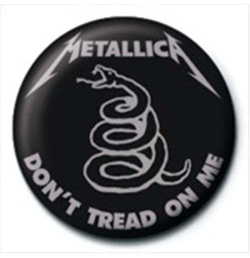 Brosche Metallica - Don'T Tread On Me Pin Badge (25 mm)