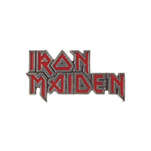 Iron Maiden Brosche RED ENAMEL LOGO