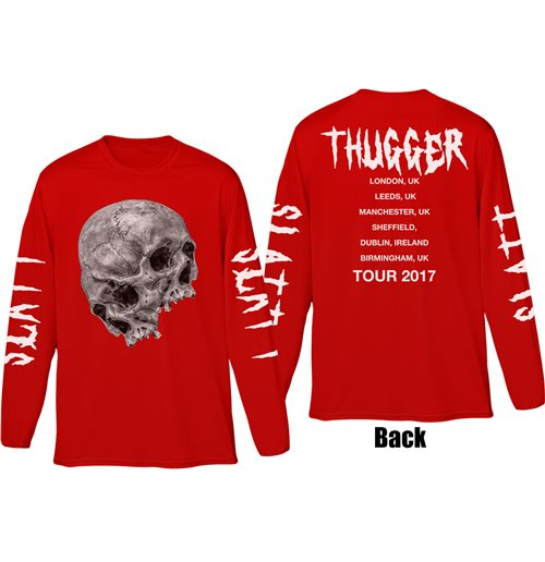 langärmeliges T-Shirt Young Thug: Thugger Skull Long sleeves T-shirt (back & Sleeve PRINT) (Unisex)