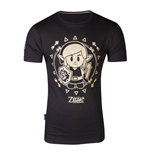 T-Shirt The Legend of Zelda Link's Awakening Tribal Link T-Shirt, männlich, extra groß, schwarz