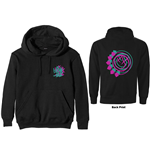 Sweatshirt blink-182 Unisex Zipped Hoodie: Double Six Arrow Smiley (Back Print)