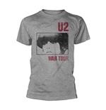 T-Shirt U2 Gildan 64000 War in grau.