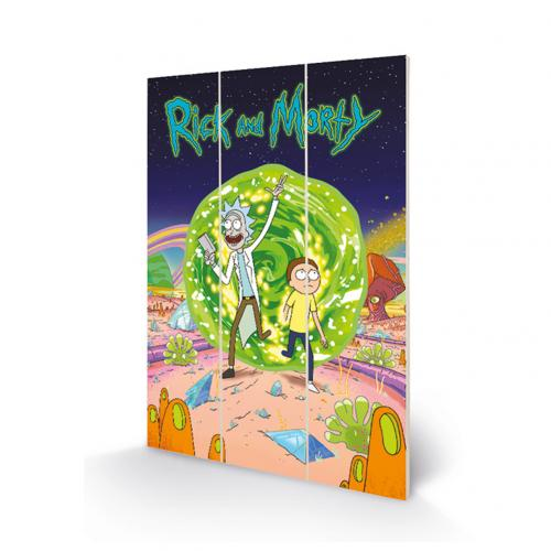 Holzdruck Rick and Morty