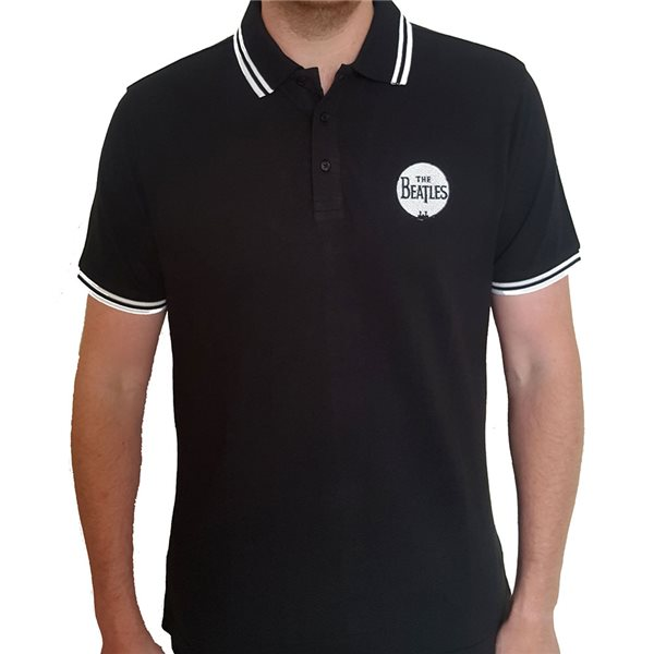 Polohemd The Beatles  Unisex Polo Shirt: Drum Logo
