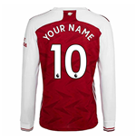 Arsenal langärmeliges T-Shirt 2020/21 Home Personalisierbar