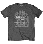 Green Day T-Shirt unisex - Design: Stained Glass Arch