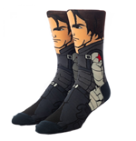 Marvel Superheroes Strümpfe. Marvel Disney + Der Wintersoldat 360 Character Collection Crew Socken